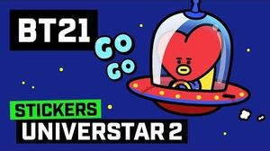 BT21 Animated Stickers - UNIVERSTAR 2