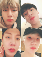 V, Jungkook, J-Hope and Suga Twitter October 22, 2017