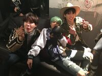 J-Hope, Suga and Jungkook on Twitter