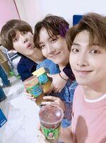 V, J-Hope and RM Twitter June 10, 2018