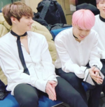 Jikook laughing backstage