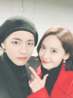V with Yoona of SNSD Twitter Dec 11, 2017