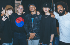 Rap Monster and Jungkook with Major Lazer