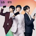 V, Jin and Jungkook LG