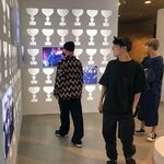 V, J-Hope and RM at BTS Exhibition Aug 31, 2018