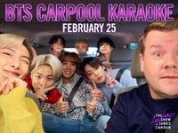 BTS and James Corden Twitter Feb 17, 2020