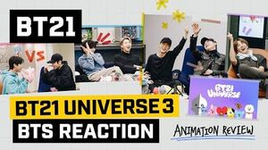 BT21 BT21 UNIVERSE ANIMATION - BTS Reaction