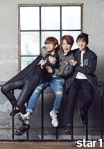 V, Jimin and Jungkook star1 Magazine Oct 2015