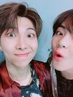 RM and V Twitter June 9, 2018