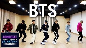 BTS Performs 'Boy with Luv' In Quarantine - HomeFest