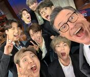 BTS on Stephen Colbert Instagram May 15, 2019