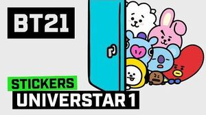 BT21 Animated Stickers - UNIVERSTAR 1