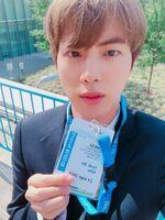 Jin Twitter Sep 28, 2018