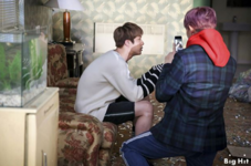RM and Jin behind the scenes of Spring Day (2)