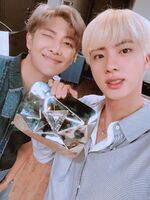 Jin and RM Twitter Aug 16, 2018 (2)