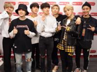 BTS at Radio Disney studio Twitter Nov 21, 2017