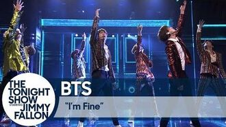 """BTS Performs """"I'm Fine"""" on The Tonight Show"""