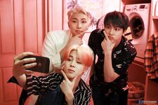 RM, Jin and Jimin Map of the Soul Persona Shoot