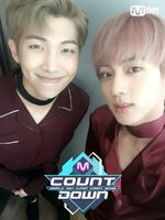 RM and Jin Mnet Countdown Oct 20, 2016