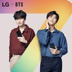Suga and RM LG
