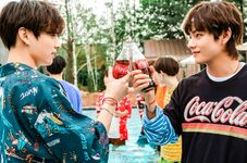 Jungkook and V Coca Cola Korea Aug 2018