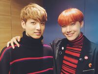 J-Hope and Jungkook BTS Official Twitter Oct 22, 2016