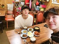 Jin and J-Hope Twitter August 22, 2017 (2)