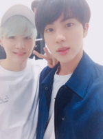 Jin and Suga Twitter October 31, 2017