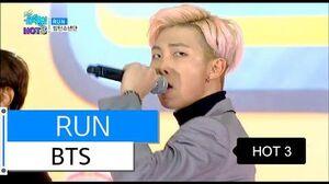 HOT BTS - RUN, 방탄소년단 - 런, Show Music core 20151219