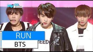 HOT BTS - RUN, 방탄소년단 - 런, Show Music core 20160102