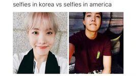 Hoseok selfies