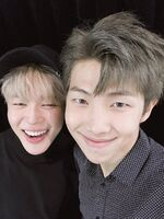 Jimin and RM Twitter Dec 2, 2016