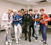 BTS with Yoshiki Twitter Dec 22, 2017