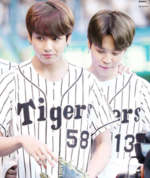 Jikook baseball match 2017