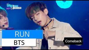 HOT BTS - RUN, 방탄소년단 - 런, Show Music core 20151205
