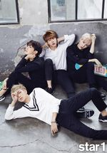 J-Hope, Jin, Suga and Rap Monster star1 Magazine Oct 2015