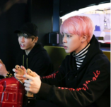 Jikook at arcade