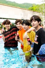 J-Hope, RM, Suga and V Coca Cola Korea Aug 2018