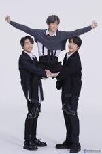 Jungkook, Suga and Jin Map of the Soul 7 Shoot (1)