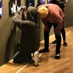 Jungkook and Jin at BTS Exhibition Aug 31, 2018