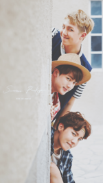 RM, Jin and J-Hope Summer Package 2016 Wallpaper