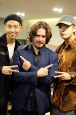 Rap Monster and V with Edgar Wright Twitter Sep 8, 2017