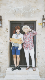 Jimin and Suga Summer Package 2016 Wallpaper