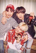 J-Hope, Jungkook and Suga Coca Cola Korea