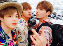 Jimin, V and Jungkook Twitter August 6, 2017