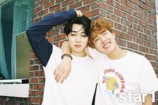Jimin and J-Hope star1 Magazine Aug 2016