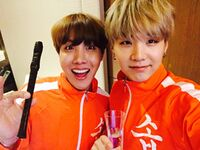 J-Hope and Suga Twitter March 9, 2019