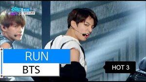 HOT BTS - RUN, 방탄소년단 - 런, Show Music core 20151212