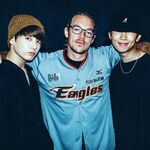 Jungkook and Rap Monster with Diplo July 28, 2017