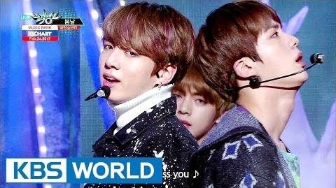 Video - BTS - Spring Day 방탄소년단 - 봄날 Music Bank HOT Stage